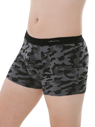 Comazo Biowäsche, Short-Pants für Männer in anthrazit - Vorderansicht