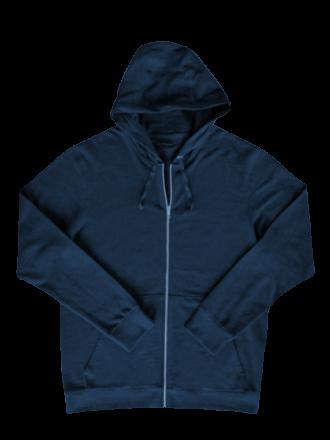 Comazo Lieblingswäsche Herren Homewear Jacke mit Kapuze in navy