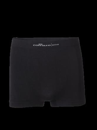 Comazo Funktionswäsche, Seamless Trunks in schwarz - Vorderansicht