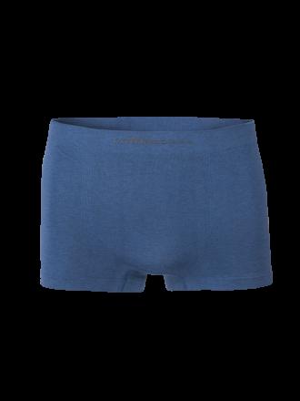 Comazo Funktionswäsche, Seamless Trunks in blaumeliert - Rückansicht