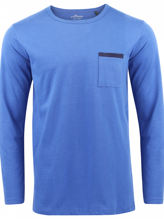 Comazo Lieblingswäsche Herren langarm Shirt in blue