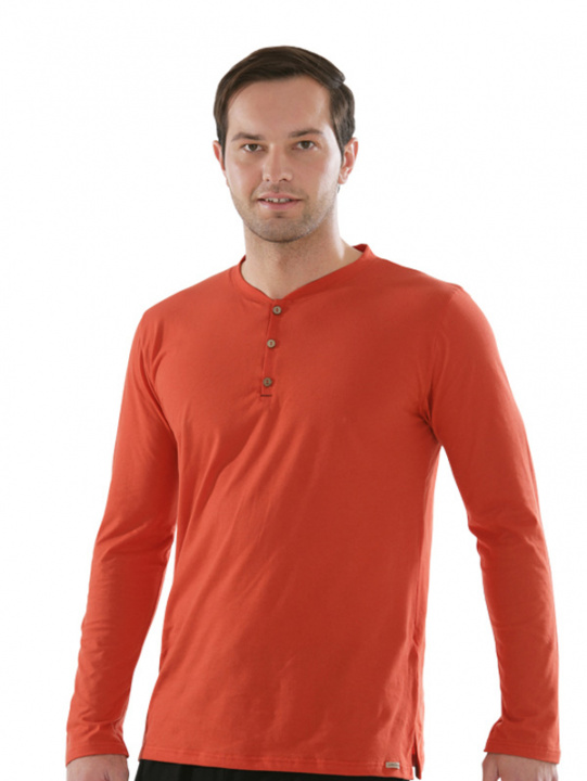 Comazo Biowäsche, Shirt in orange - Vorderseite