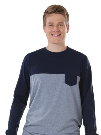 Comazo Unterwäsche, Shirt in marine - Vorderansicht
