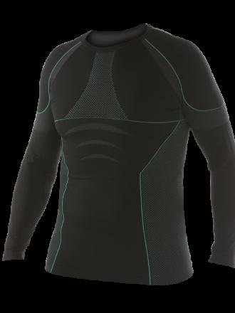 Comazo Funktionswäsche, Shirt langarm für Herren in schwarz/grün