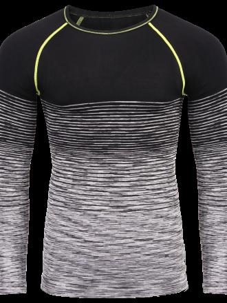 Comazo Unterwäsche Funktionswäsche Herren Shirt in grey/black