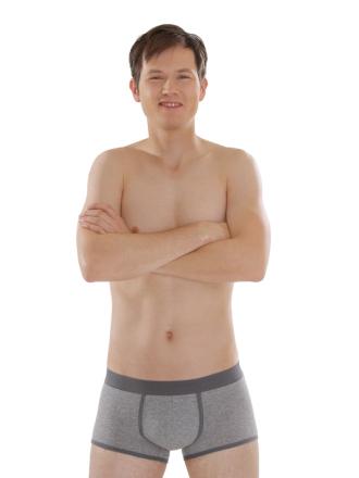 Comazo Biowäsche, Hip-Pants für Herren in grau-melange