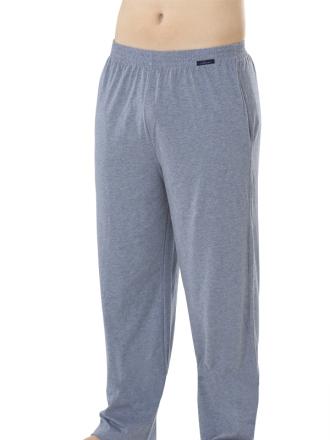 Comazo Loungewear, Nachtwäsche, lange Hose für Herren, marine - Vorderansicht