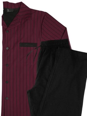 Comazo Schlafanzug für Herren in bordeaux-Vorderansicht
