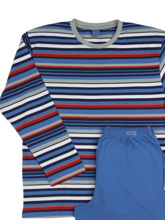 Comazo Schlafanzug für Herren in eisblau -Vorderansicht