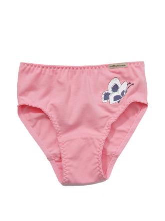 Comazo Biowäsche, Slip für Mädchen in anemone - Vorderansicht