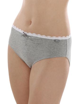Comazo Unterwäsche, Slip für Mädchen in grau-melange - Vorderansicht