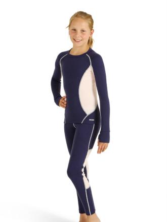 Comazo Lieblingswäsche, Unterhose lang für Mädchen in Nachtblau - Vorderansicht