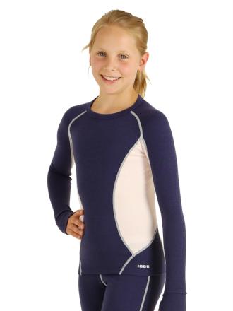 Comazo Lieblingswäsche, Shirt langarm für Mädchen in nachtblau - Vorderansicht