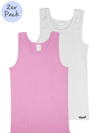 Comazo Lieblingswäsche Kinder Unterhemd weiss und rosa