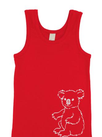 comazo Biowäsche, Unterhemd für Mädchen in campari - Vorderansicht