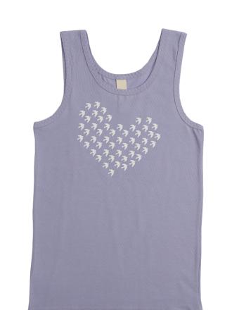 comazo Biowäsche,  Shirt für Mädchen in sweet lavender - Vorderansicht