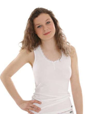 Comazo Unterwäsche, Unterhemd für Mädchen in weiss - Vorderansicht