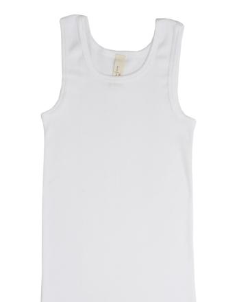 Comazo Biowäsche, Unterhemd für Mädchen und Knaben in weiss - Vorderansicht