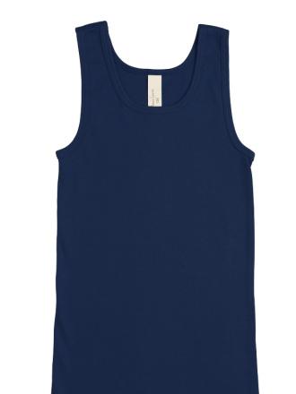 Comazo Biowäsche, Unterhemd für Mädchen und Knaben in marine - Vorderansicht