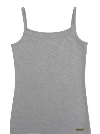 Comazo Biowäsche, Unterhemd  für Mädchen in grau-melange - Vorderansicht