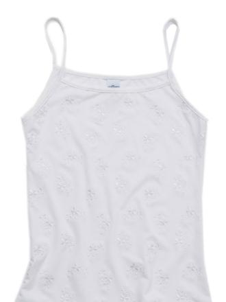 Comazo Unterwäsche, Spaghettiträgerhemd für Mädchen, weiss - Gesamtansicht