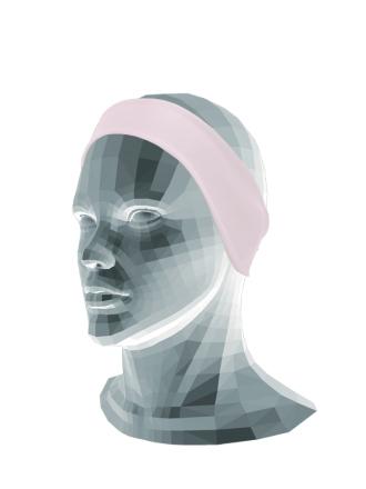 Comazo Funktionswäsche Stirnband für Mädchen in nachtblau - Vorderansicht
