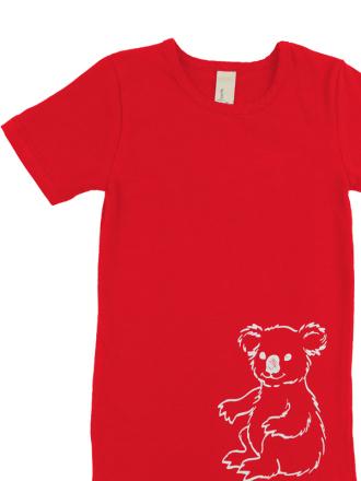 comazo Biowäsche, Kurzarm Shirt für Mädchen in campari - Vorderansicht