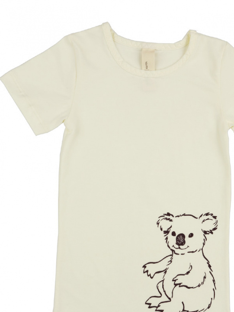 comazo Biowäsche, Kurzarm Shirt für Mädchen in ecru - Vorderansicht