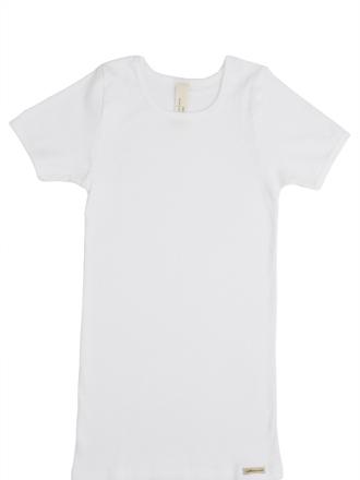 Comazo Biowäsche, Kurzarmshirt für Mädchen und Knaben in weiss - Vorderansicht