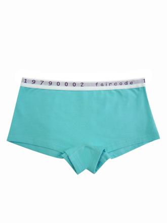 Comazo Biowäsche, Hot-Pants für Mädchen in lagune - Vorderansicht