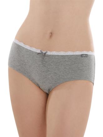 Comazo Unterwäsche, Hipster für Mädchen in grau-melange - Vorderansicht
