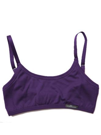 Comazo Unterwäsche, Bustier für Mädchen in dark-violett - Vorderansicht