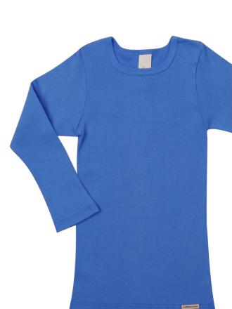 Comazo Biowäsche, Shirt langarm für Knaben und Mädchen in see - Vorderansicht