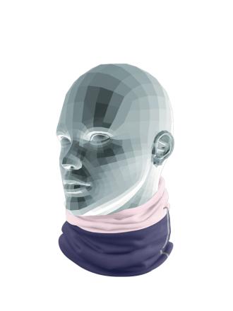 Comazo Funktionswäsche Schlauchschal für Mädchen in nachtblau - Detailansicht
