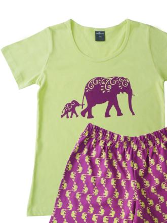 Comazo Kurzarm Schlafanzug für Mädchen - Vorderansicht