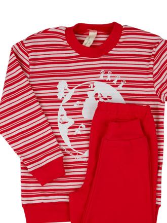 Comazo Langarm Schlafanzug für Mädchen und Jungen- Vorderansicht