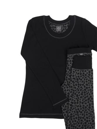 Comazo Nachtwäsche, Schlafanzug für Mädchen in schwarz