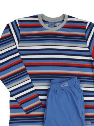 Comazo Schlafanzug in eisblau für Jungen - Vorderansicht
