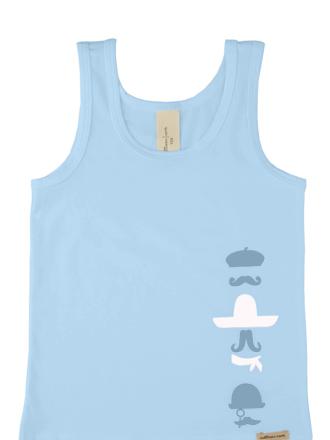 Comazo Biowäsche, Unterhemd für Knaben in iceblue, Vorderansicht