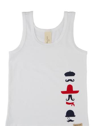 comazo Biowäsche, Unterhemd für Jungen in weiss - Vorderansicht