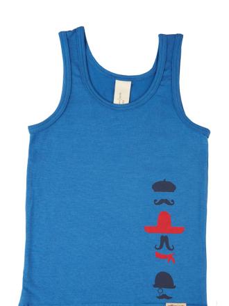 comazo Biowäsche, Unterhemd für Jungen in blau - Vorderansicht