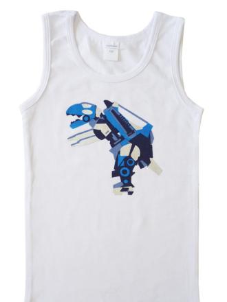 Comazo Wäsche, Unterhemd für Knaben in weiss - Vorderansicht
