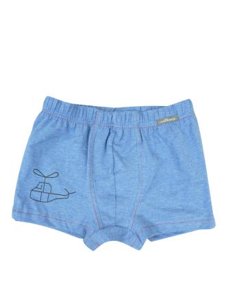 Comazo Lieblingswäsche für Kinden Jungen Trunks in blau-melange