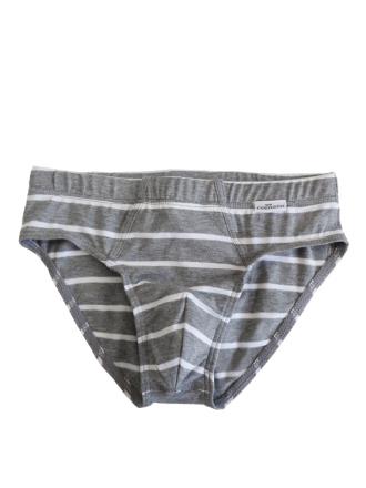 Comazo Unterwäsche, Slip, ringel grau-meliert - Vorderansicht