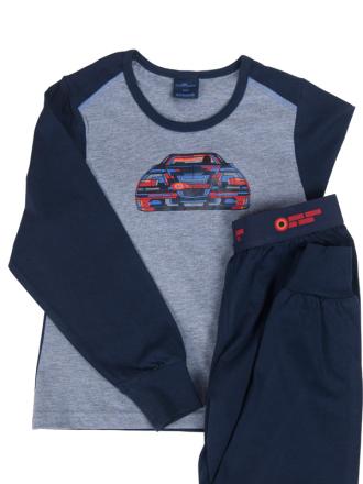 Comazo Nachtwäsche, Schlafanzug für Knaben in navy - Vorderansicht