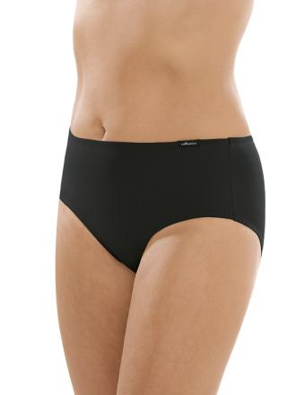 Comazo Unterwäsche, Komfort-Slip für Damen in schwarz - Vorderansicht