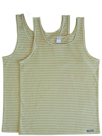 Comazo Biowäsche, Unterhemd für Jungen geringelt - Vorderansicht