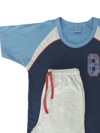 Comazo Schlafanzug kurzarm in nautic für Jungen - Ganzansicht