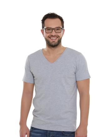 Comazo Lieblingswäsche Basic Shirt, grau-melange-Vorderansicht