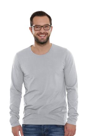 Comazo Lieblingswäsche Basic Shirt, grau-melange - Vorderansicht